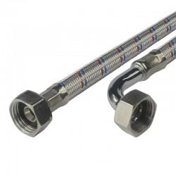 """Připojovací hadice 10x14, FxF, 3/4""""x3/4"""" s kolínkem, 300 cm, nerez opletení"""