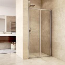Sprchové dveře zalamovací, Mistica, 80x190 cm, chrom ALU, sklo Čiré