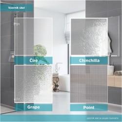 Sprchový kout, Fantasy, čtverec, 90 cm, chrom ALU, sklo Čiré