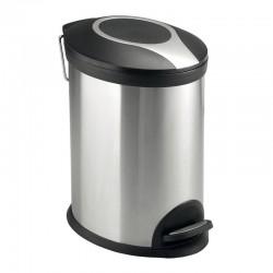 Odpadkový koš, ovál, 5 l, nerez/plast