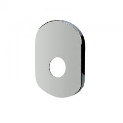 Kryt oválný pro podomítkovou baterii bez přepínače, 18 x12,5 cm