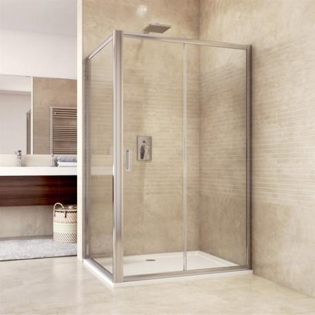 Sprchový kout, Mistica, obdélník, 120x90 cm, chrom ALU, sklo Chinchilla