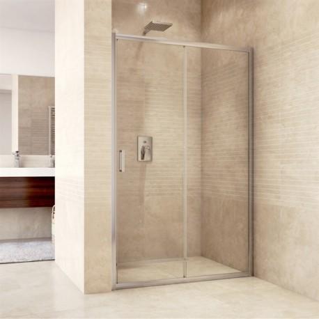 Sprchové dveře zasunovací, Mistica, 120x190 cm, chrom ALU, sklo Chinchilla