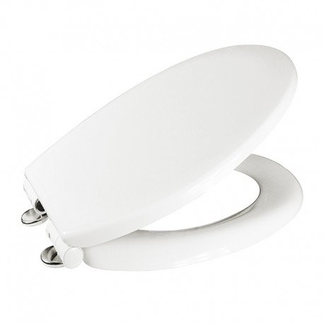 Samozavírací WC sedátko, duroplast, bílé, s odnímatelnými panty CLICK