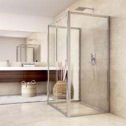 Sprchový kout, Mistica, obdélník, 80x120x80x190 cm, chrom ALU, sklo Čiré