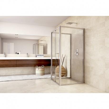 Sprchový kout, Mistica, čtverec, 90x90x90x190 cm, chrom ALU, sklo Čiré