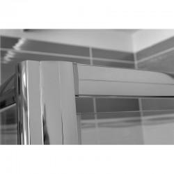 Sprchové dveře zalamovací, Mistica, 90x190 cm, chrom ALU, sklo Čiré