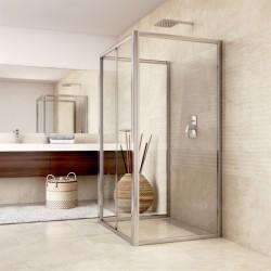 Sprchový kout, Mistica, obdélník, 80x90x80x190 cm, chrom ALU, sklo Čiré