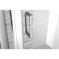 Sprchové dveře pivotové, Mistica, 90 cm, chrom ALU, sklo Čiré