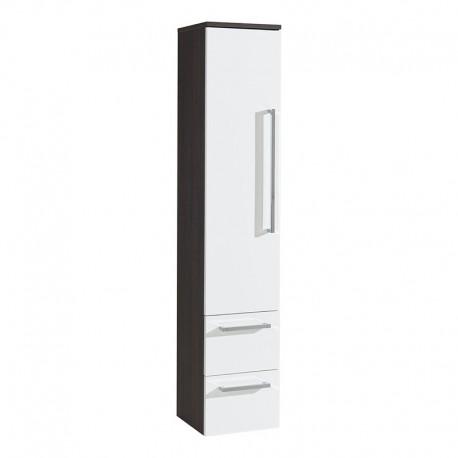 Koupelnová skříňka, závěsná bez nožiček, levá, bílá/schoko