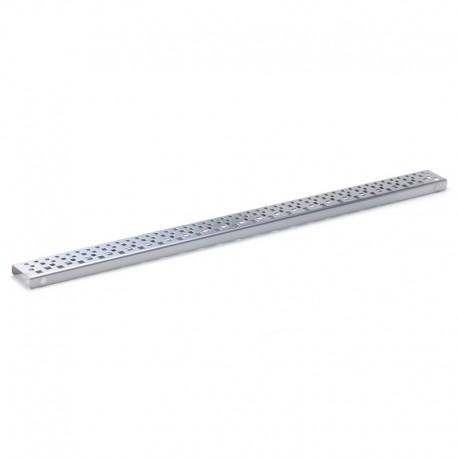 Rošt Square pro odtokový žlab Slim, 80x5,5 cm, nerez