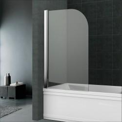 Vanová zástěna, 70 cm, leštěný hliník, sklo Čiré