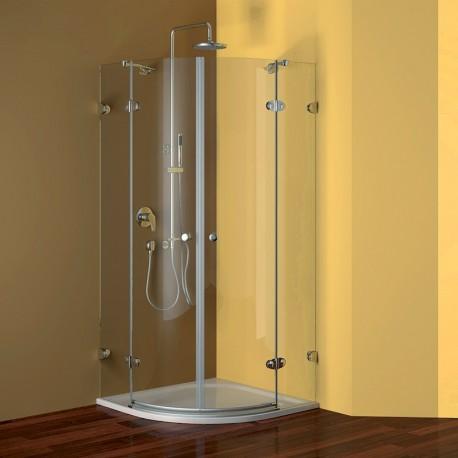 Sprchový kout, Fantasy, čtvrtkruh, 90 cm, R550,chrom ALU, sklo Čiré
