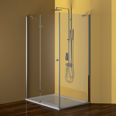 Sprchový kout, Fantasy, obdélník, 80x100 cm, chrom ALU, sklo Čiré, panty podlouhlé