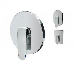 Sprchová baterie podomítková bez přepínače, Mada, Mbox, oválný kryt, chrom