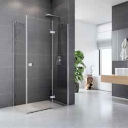 Sprchový kout, Fantasy, obdélník, 90x100 cm, chrom ALU, sklo Čiré,  dveře a pevný díl