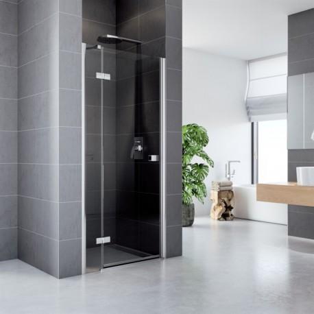 Sprchové dveře, Fantasy, 80x190 cm, chrom. profily ALU, sklo Čiré, L/P universální provedení
