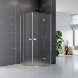 Sprchový kout, Fantasy, čtvrtkruh, 90 cm, R550, chrom ALU, sklo Point