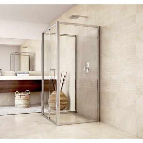 Sprchový kout, Mistica, čtverec, 100x100x100x190 cm, chrom ALU, sklo Čiré