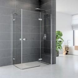 Sprchový kout, Fantasy, obdélník, 90x80 cm, chrom ALU, sklo Čiré